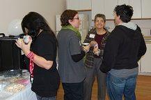 Guest, Tracy (Artswell), Anna Maria (Club Casa de los Abuelos) and Jo (Cornerstone).