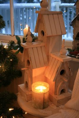 ....LOVE THIS BIRDHOUSE, IF  OUTSIDE MAYBE A TIN ROOF
