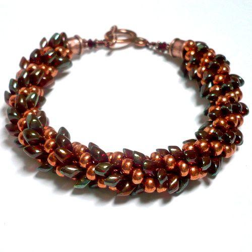 Japanese Magatama Seed Beads | Miyuki 4mm, Burgundy Gold Luster - Artbeads.com