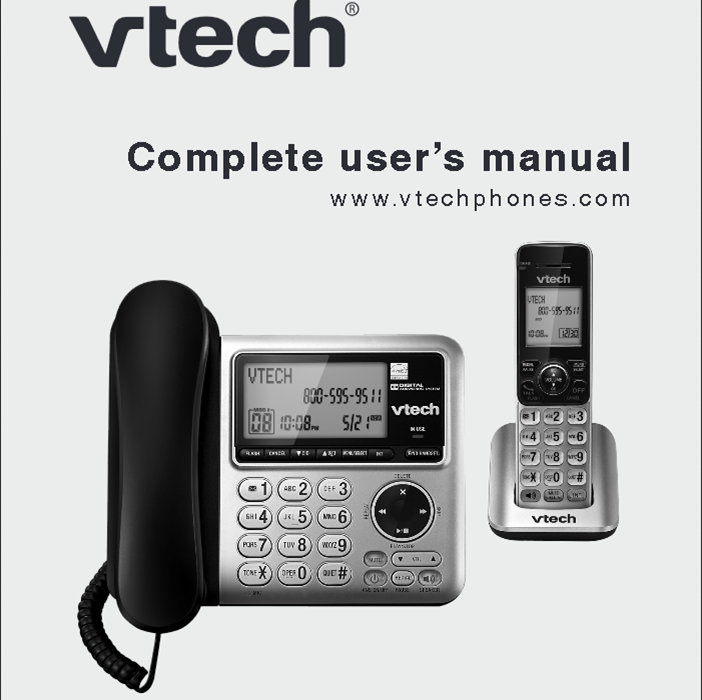 Vtech Cs6649 Complete User S Manual User Manual Vtech Manual