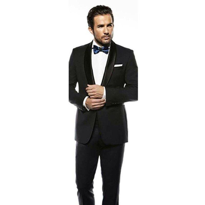 modern mens wear black tuxedo slim fit tailor men suits black for ...