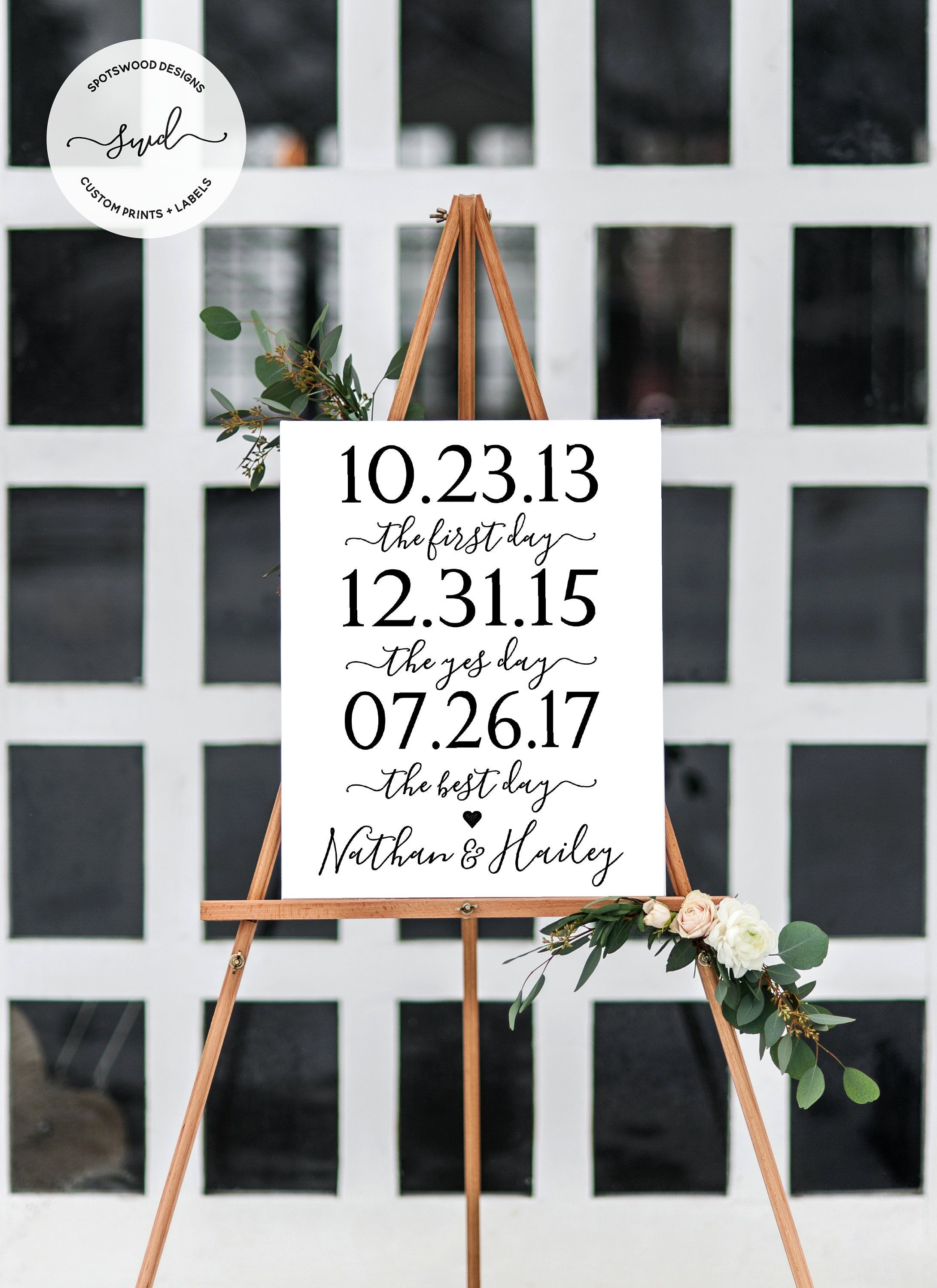 Christian wedding decoration designs  First Day Yes Day Best Day Custom Printable Our Love Story