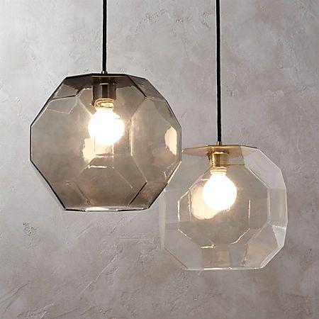 Flat Glass Pendant Light + Reviews #pendantlighting
