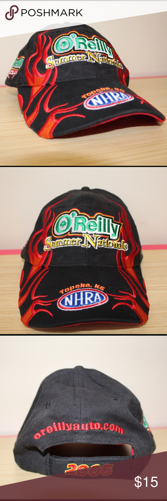 O'Reilly flames hat O'Reilly flames 2006 auto summer