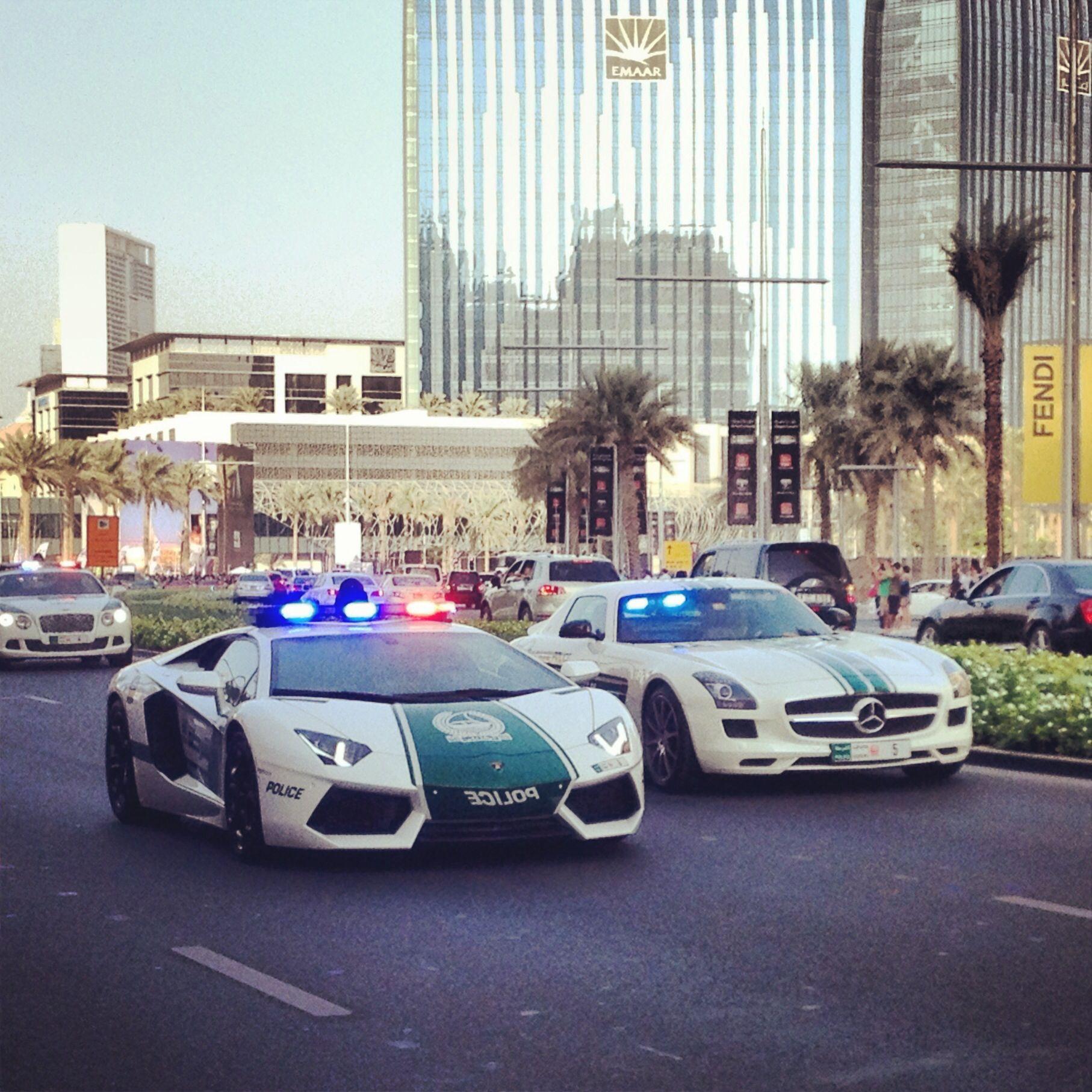Dubai police force arrived on the scene