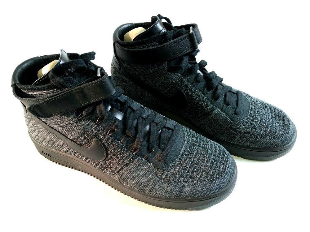 fcef4b79cbf3 Nike Air Force One AF1 Ultra Flyknit Mid Triple Black Oreo SZ 12  817420-001    Nike  AthleticSneakers
