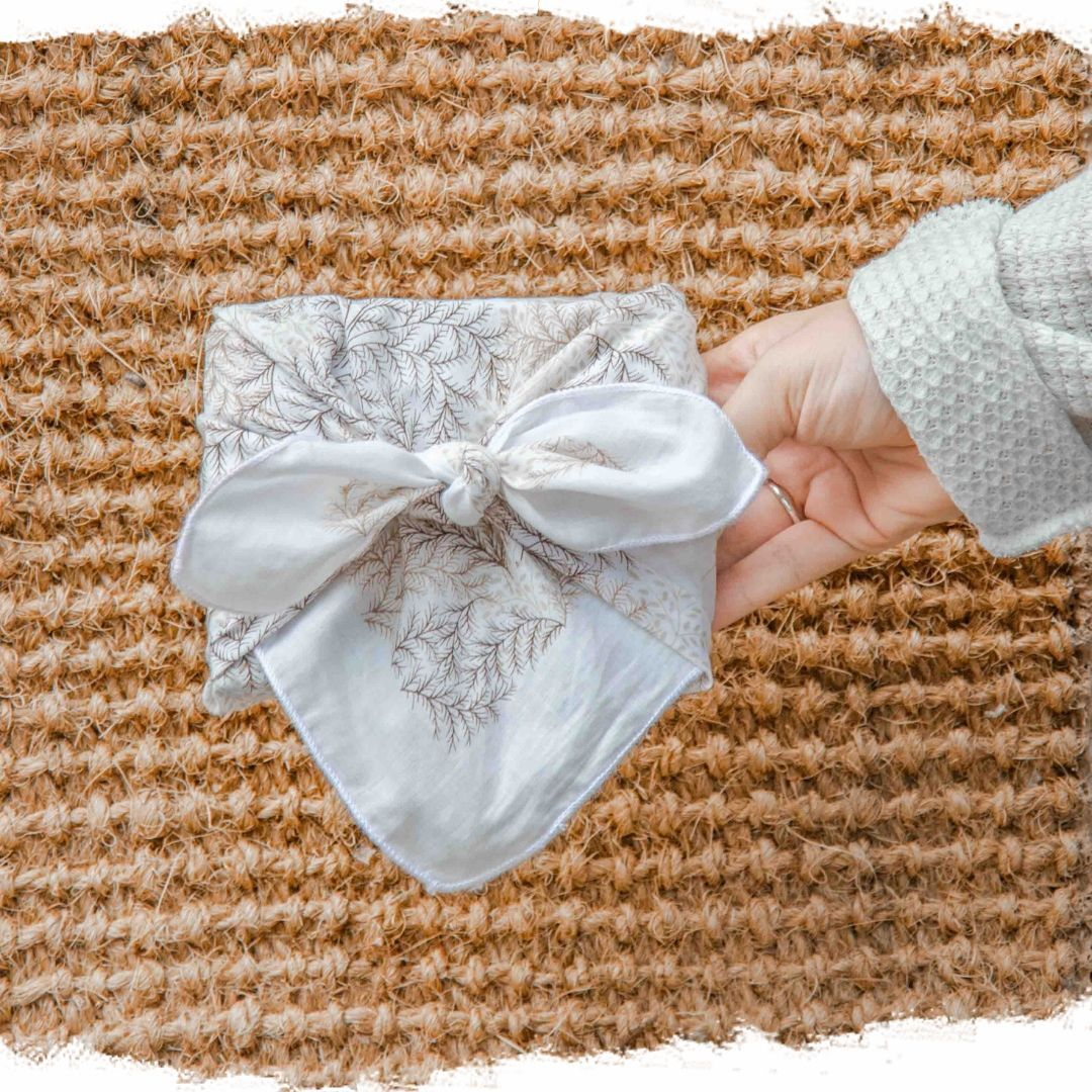 Geschenke ohne Papier verpacken - Furoshiki #geschenkeverpacken