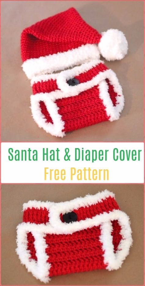 Crochet Santa Hat and Diaper Cover Free Pattern - Crochet Baby ...