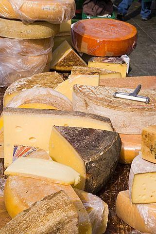 Close upof cheese at a market, Bundesplatz, Old City of Berne, Berne, Switzerland