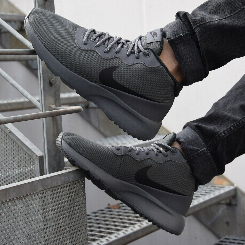 Air Star Herren Freizeitschuhe Sneaker Schwarz//Grau