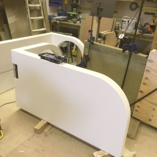 Production stage of our Wavelight furniture. www.stevehowiebespokefurniture.com