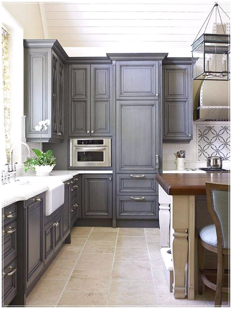 Love the dark grey cabinets, only good with a light floor though ...