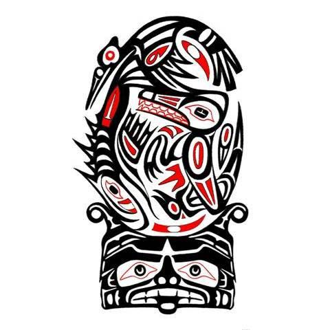 haida tattoo sleeve google search random pinterest haida tattoo tattoo and native tattoos. Black Bedroom Furniture Sets. Home Design Ideas