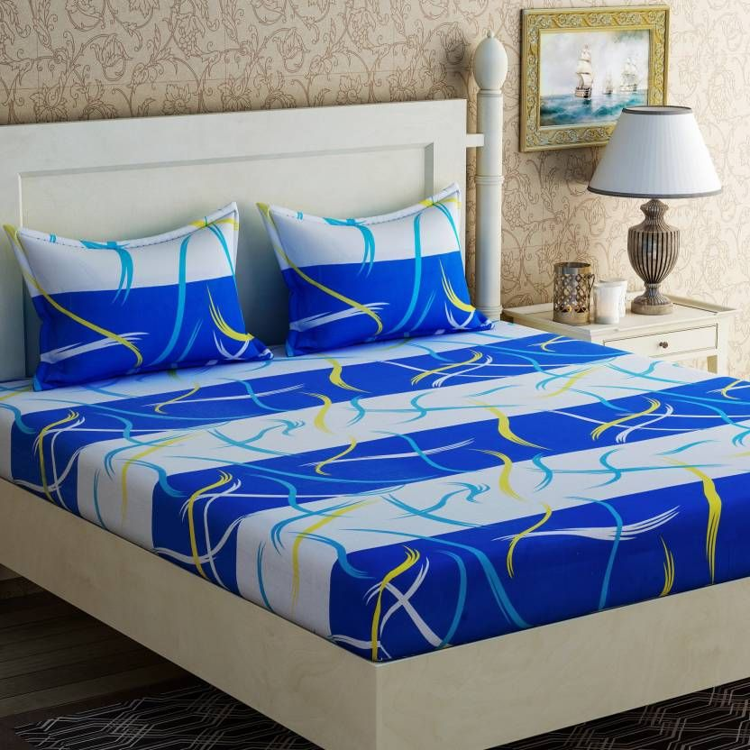 LOOT OFFER Zesture 104 TC Cotton Double Abstract Bedsheet