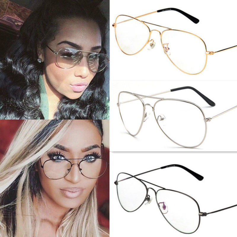 Large Clear Lens Fashion Accessory Glasses Retro Womens Mens