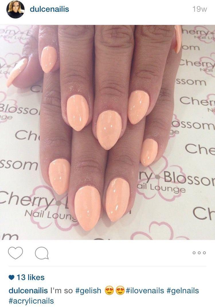 Short almond shaped nails | Nails | Pinterest | Almond shape nails ...