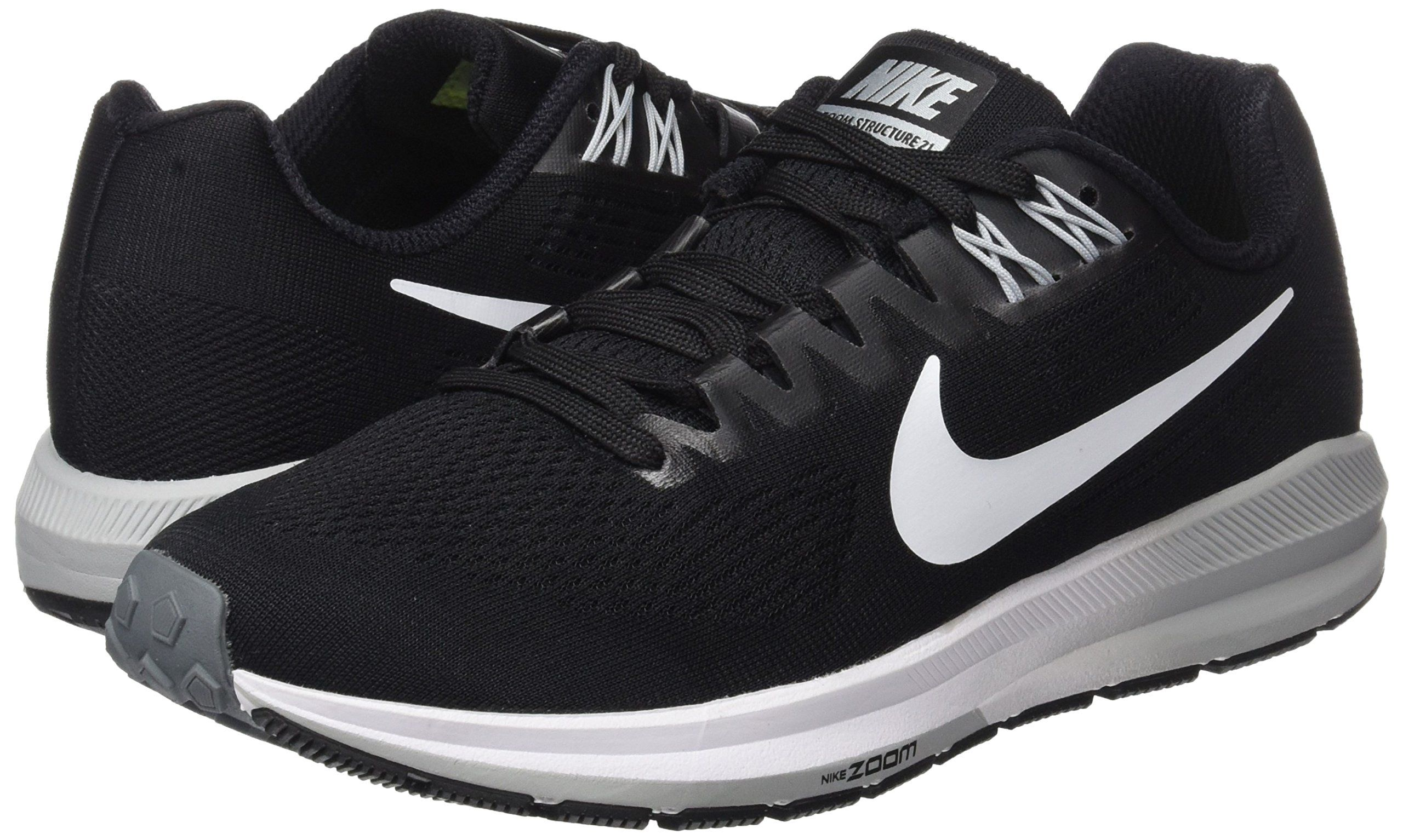 Nike Womens Air Zoom Structure 21 Black White Wolf Grey Running Shoe 6 Women Us You Can Get Additional Details At The I Nike Women Nike Black Running Shoes