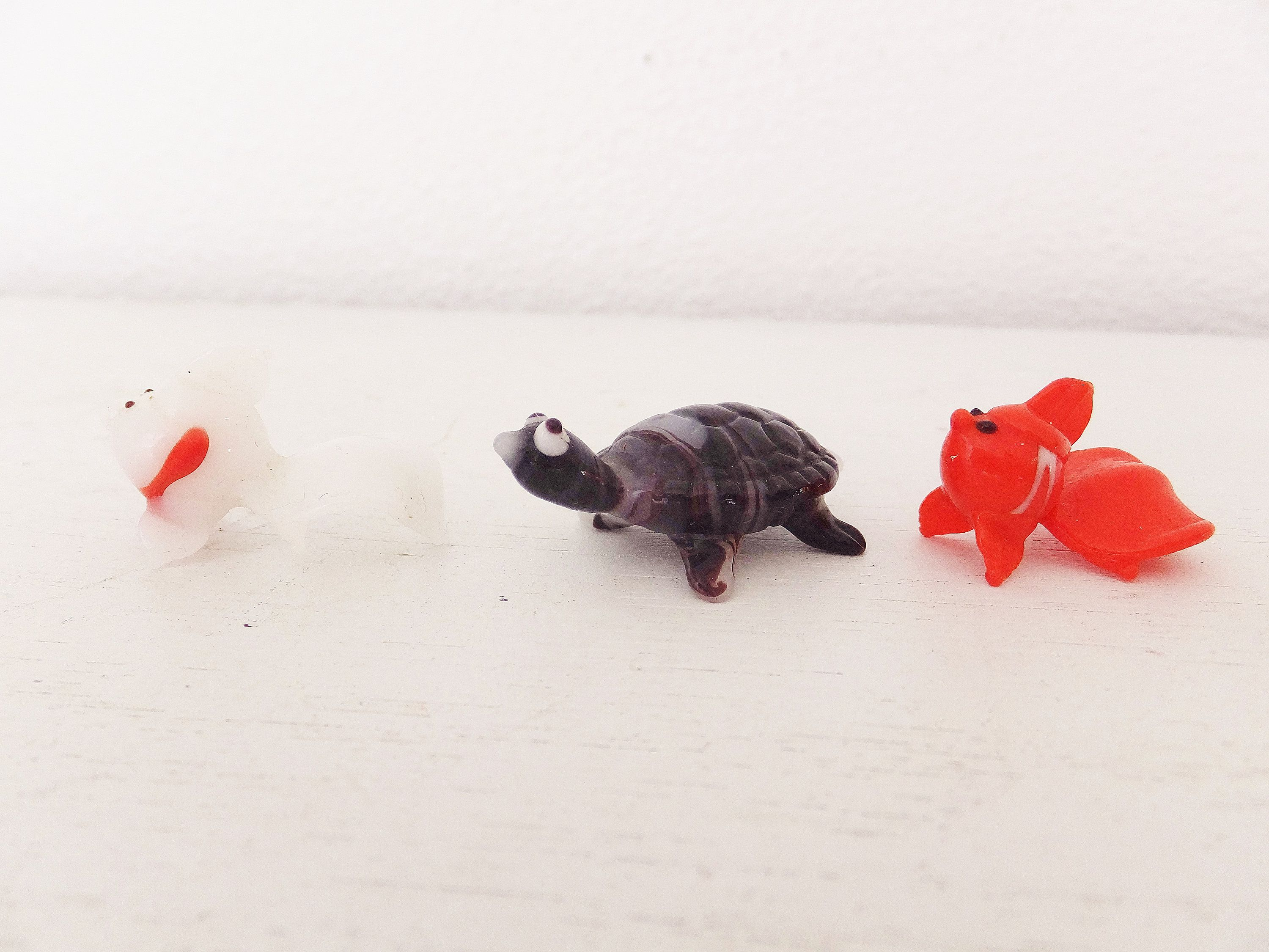 Tiny TURTLES Turtle Tortoise French Feves Dollhouse Miniatures
