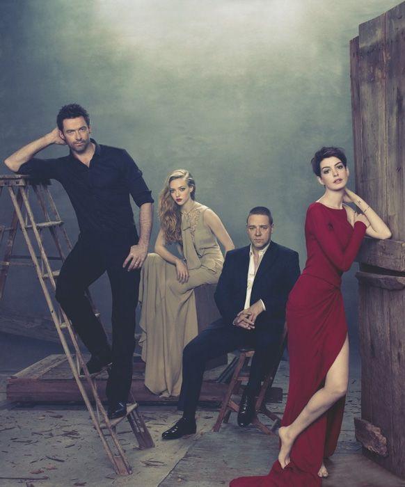 Hugh Jackman, Amanda Seyfried, Russell Crowe & Anne