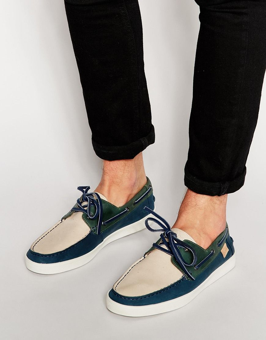 low priced c898d b6a4c Image 1 of Lacoste Keellson Leather Boat Shoes