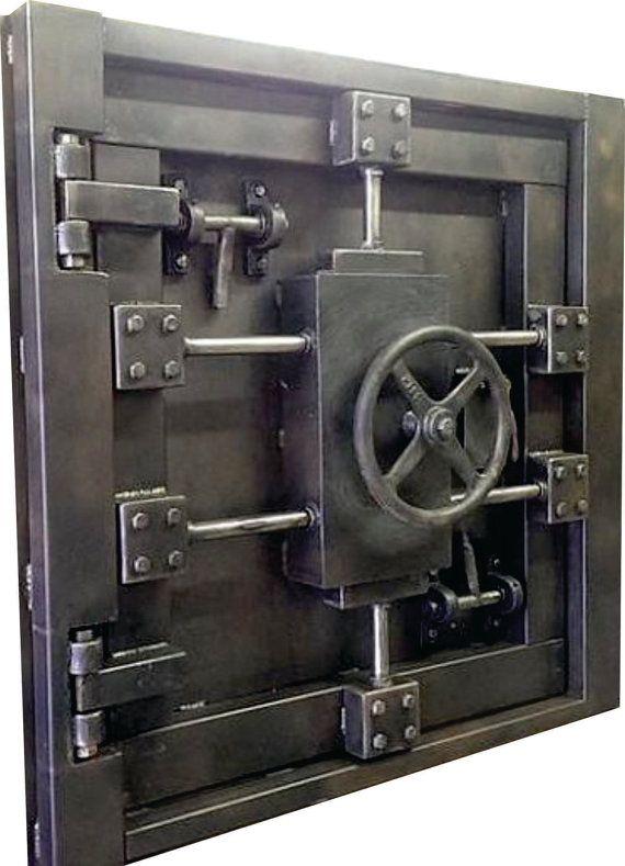 Custom Vintage Look Industrial Vault Door 027s Industrial Style