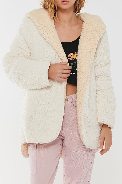 Bdg Carmen Reversible Hooded Teddy Jacket Urban Outfitters Urban Outfitters Coat Women S Coats Jackets 1950 Outfits [ 1500 x 1000 Pixel ]
