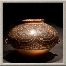 Neolithic  yangshao painted terracotta vassel China 3000 BC to 1500 BC
