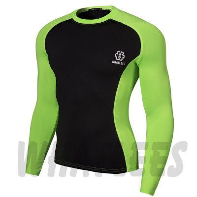 Men Compression MMA Rashguard Fitness Long Sleeves Shirts Base Layer Skin Tight Weight Lifting Running Training T Shirts