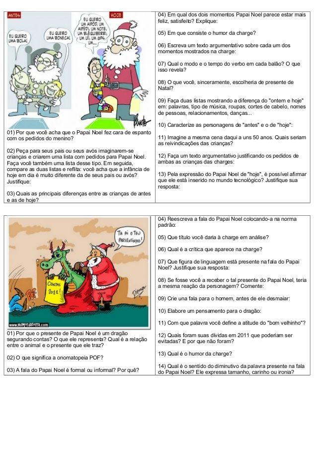 Interpretacao Charges Natal Interpretacao Atividades De Natal