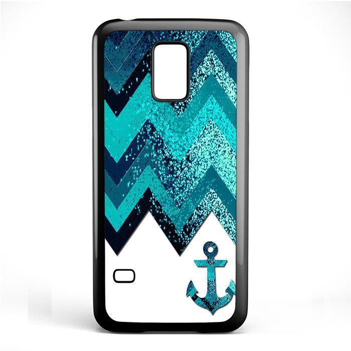 Chevron Navy Anchor Sparkly TATUM-2534 Samsung Phonecase Cover Samsung Galaxy S3 Mini Galaxy S4 Mini Galaxy S5 Mini