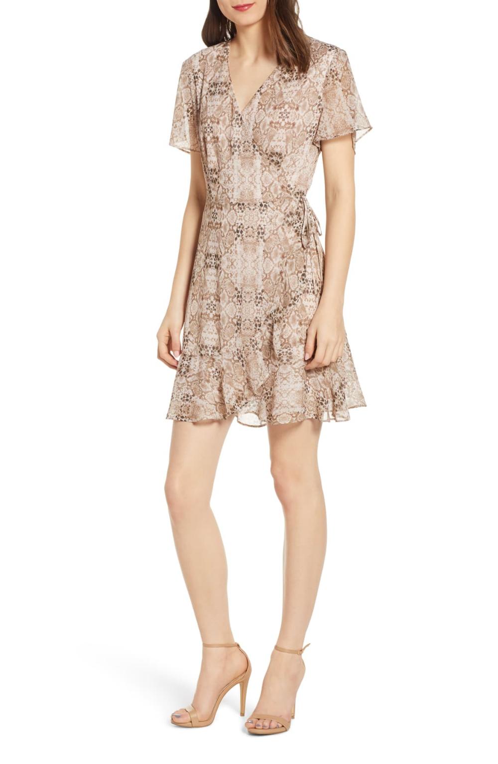 All In Favor Isabella Wrap Minidress Nordstrom Flounce Hem Dress Wrap Dress Hem Dress [ 1533 x 1000 Pixel ]