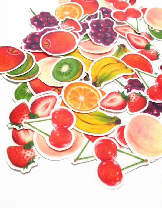 フルーツ8種のフレークシール♪