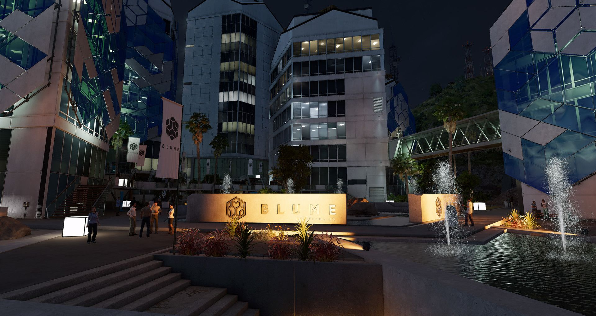 ArtStation   Watch Dogs 2 : Blume Exterior Campus, Guillaume Beland
