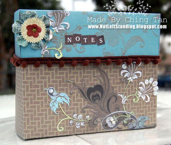 Cuttlebug Stationary Box Tutorial FEATURING Art Freckles