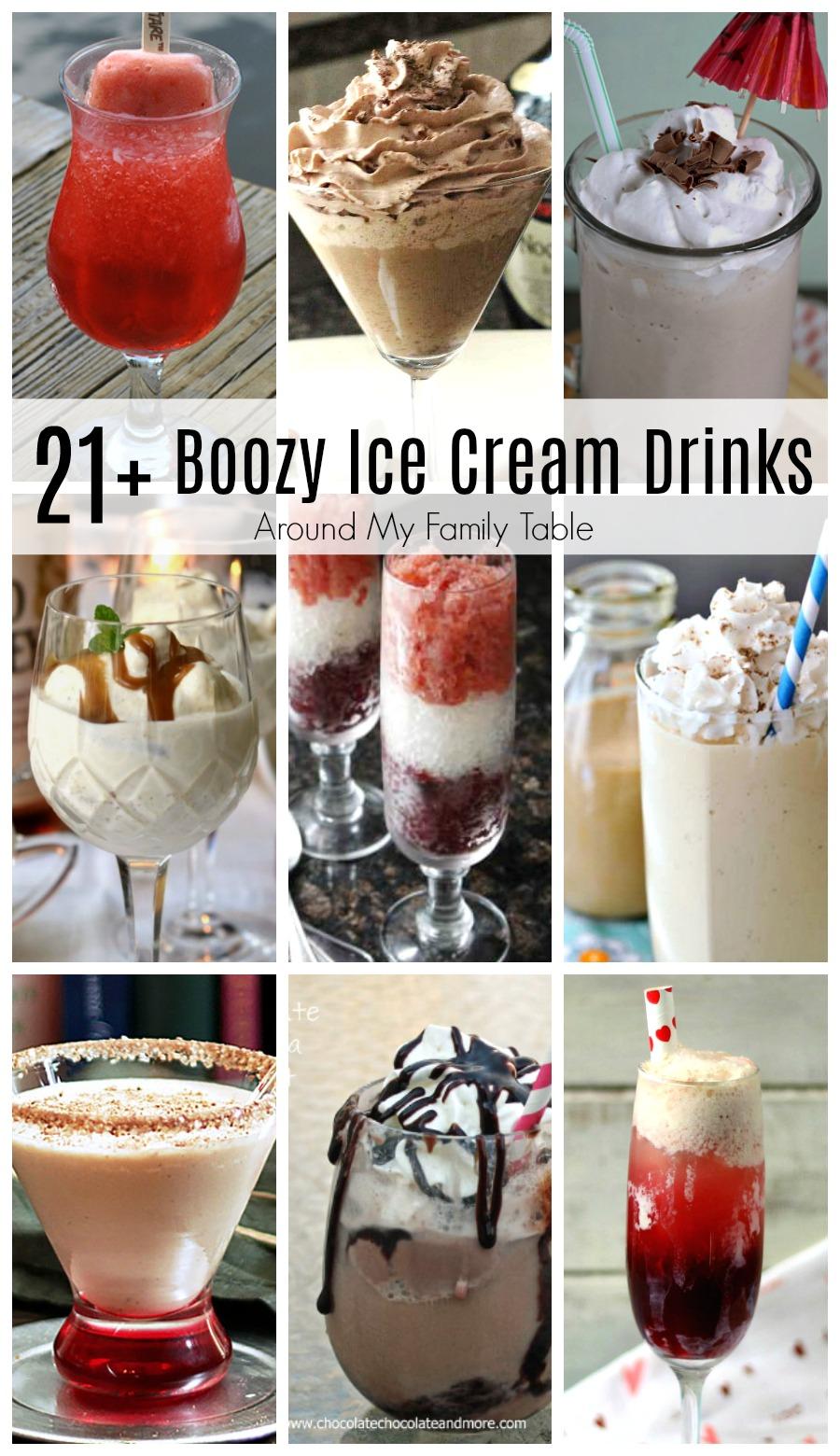boozy alcoholic ice cream drinks with images  ice cream