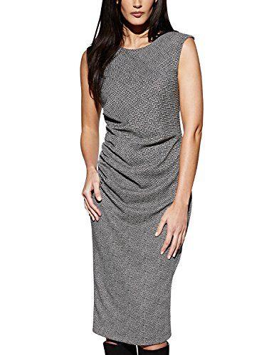 APART Fashion Damen Etui Kleid Jerseykleid, Knielang, Gr. 34, Grau ...