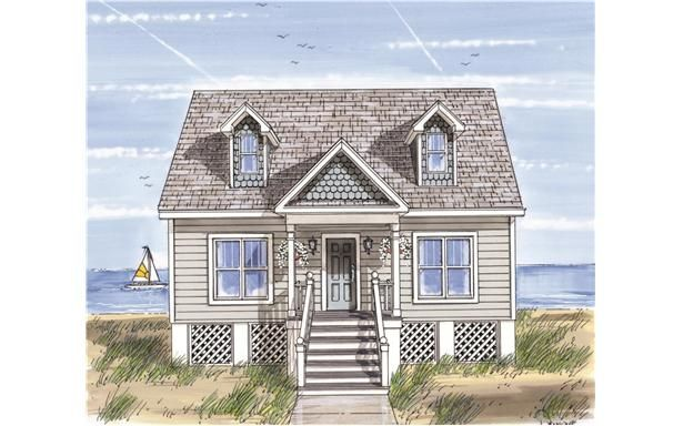 Who doesn t want a beach house modular home for Prefab beach homes