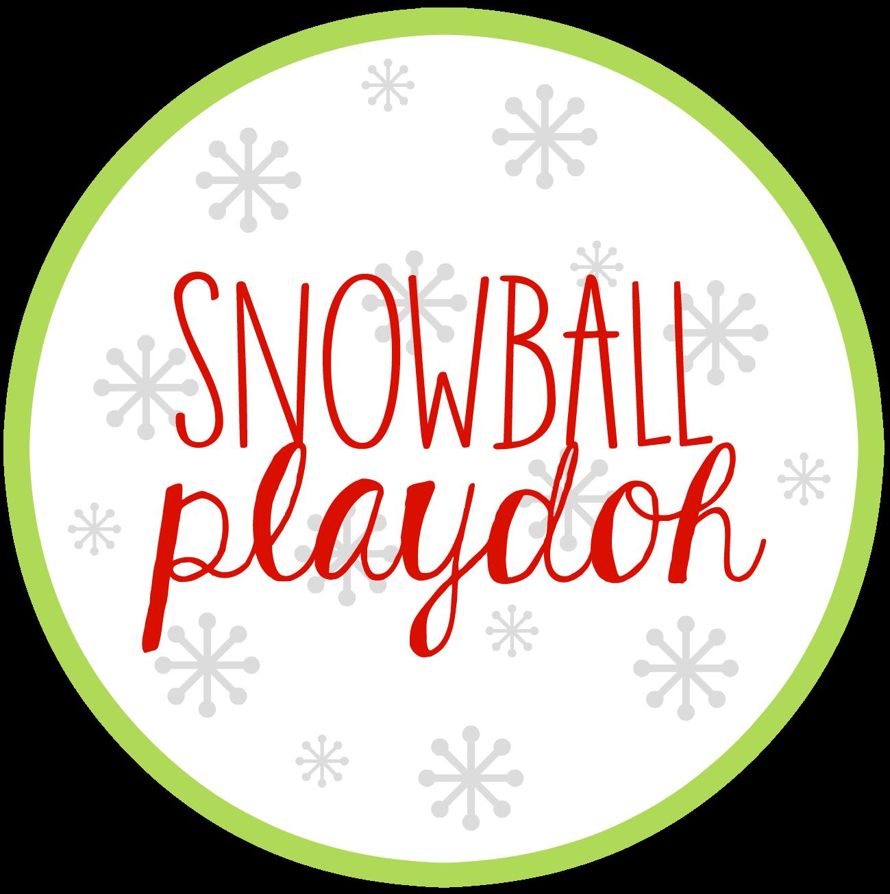 Snowball Playdoh Printable