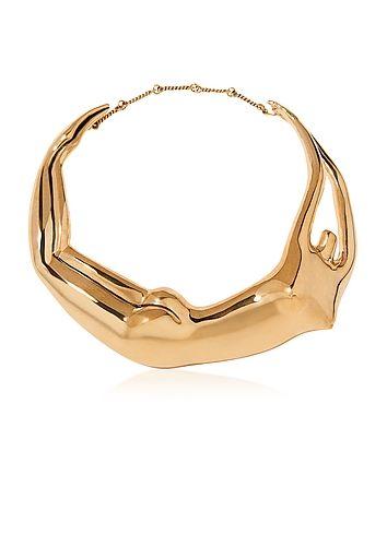 Aurelie+Bidermann+Figuratives+Body+Gold+Plated+Necklace