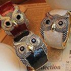 Vintage Designed Women Fashionable Personality Owl Bracelet Multiple Colors B53U