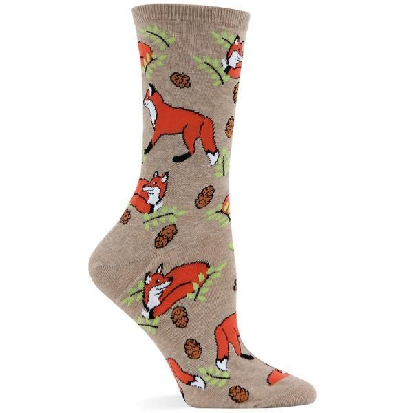 Your friends won't be able to make heads or tails of your fashion preference when you arrive in these fun Foxes fashion novelty socks. 1 pair per package. 51% N