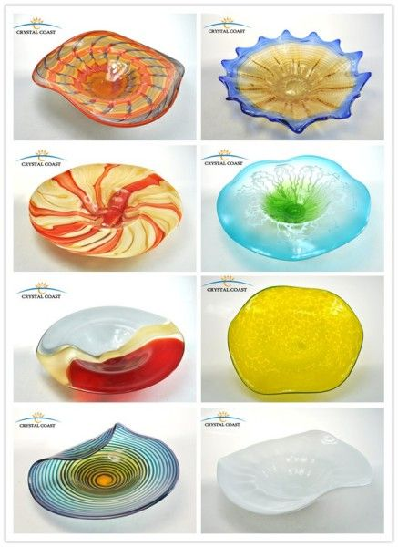 Hand Blown Glass Wall Art; Murano Glass Hanging Wall Decoration; Mosaic  Glass Plates