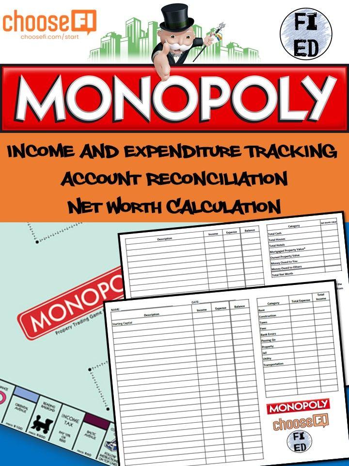 Cashflow tracker and net worth calculation activity