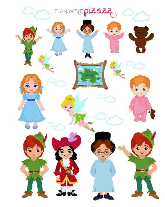 Peter Pan Inspirado Tema Hoja De Etiquetas Ideal Para Erin Emi
