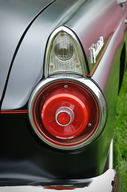 1955 T Bird Tail Classic Cars Vintage Retro Cars Unique Cars