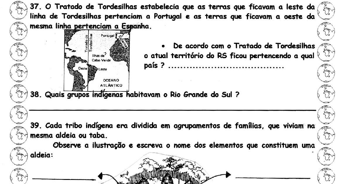 Atividades Sobre Historia E Geografia Do Rio Grande Do Sul Com