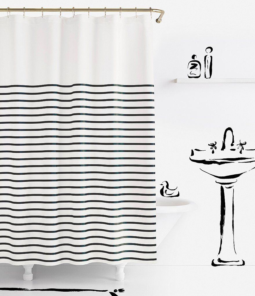 Kate Spade New York Harbour Stripe Shower Curtain Striped Shower