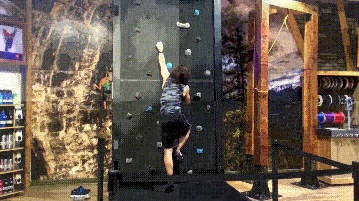 Rock Climbing Treadmill Rock climbing wall, Climbing