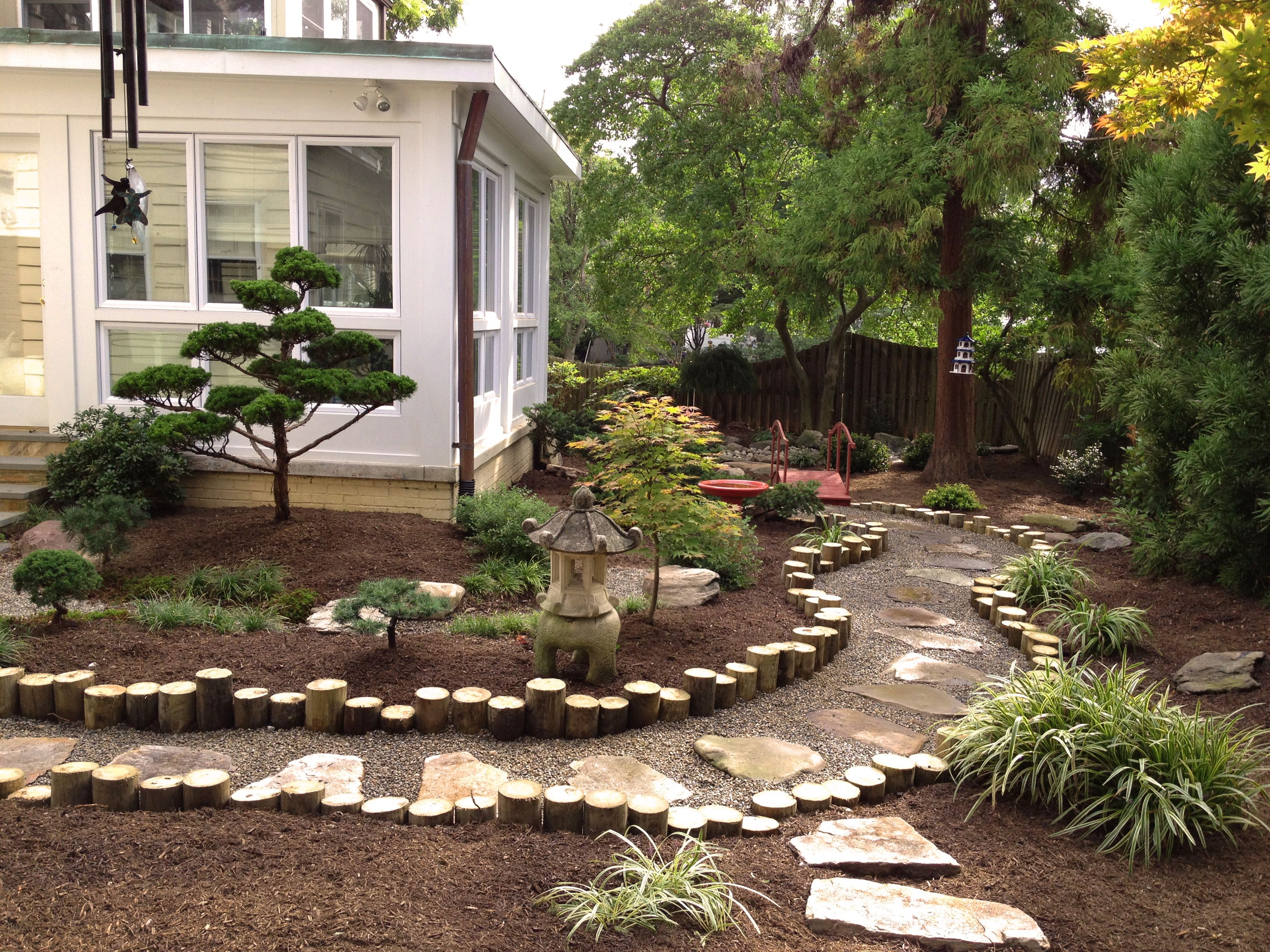 Japanese garden backyard landscape design by lee 39 s for Backyard landscape design plans