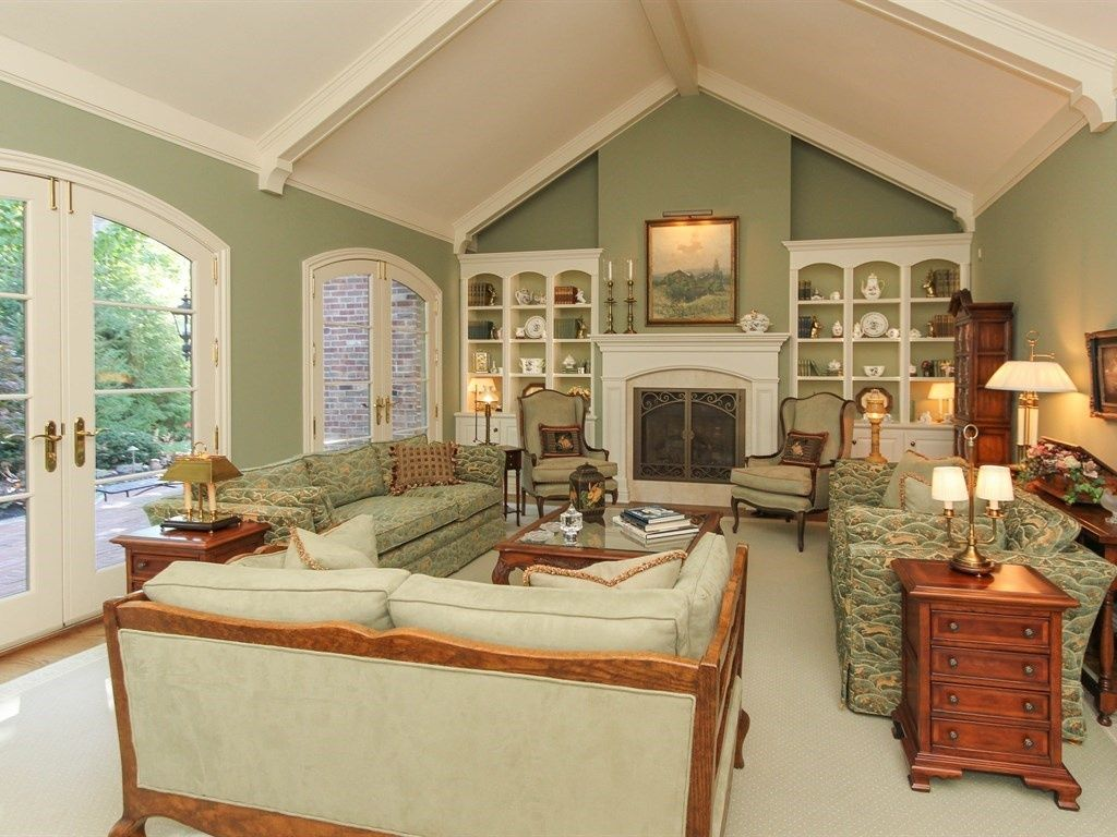 """Traditional Living Room with Crown molding, """"Cottage In A ..."""